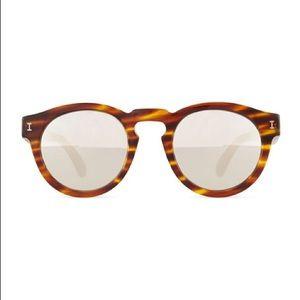 Leonard Amber Sand with Silver Mirror Sunglasses